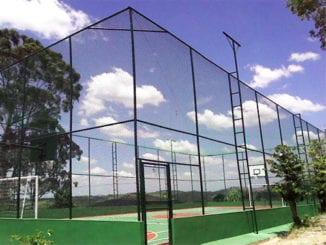 Alambrados em Salvador aplicado em quadra poliesportiva.