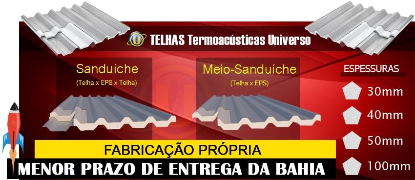 Fabricação própria - menor prazo de entrega da Bahia.