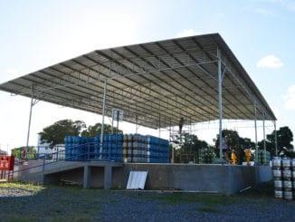 Cobertura Metálica com Telhas Galvalume na Distribuidora de Gás