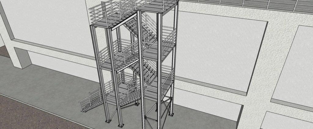 Estruturas metálicas para sscadas (BASF).