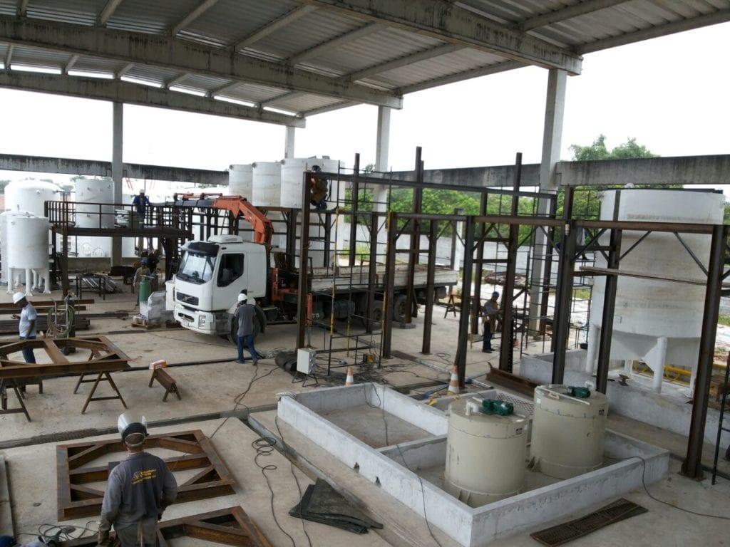 Estrutura metálica para industria petroquímica