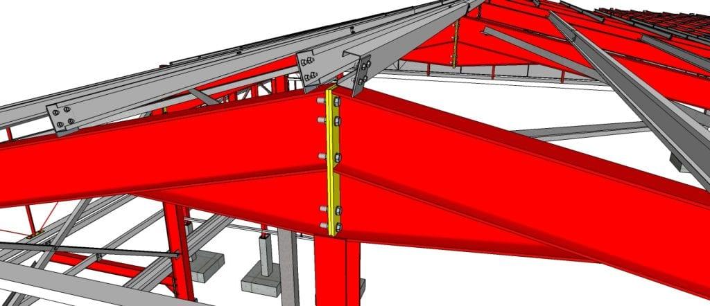 Perspectiva de uma estrutura metálica para Galpão Metálico - Camaçari-BA 02