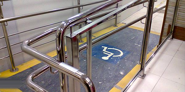 corrimão acessibilidade em aço inox